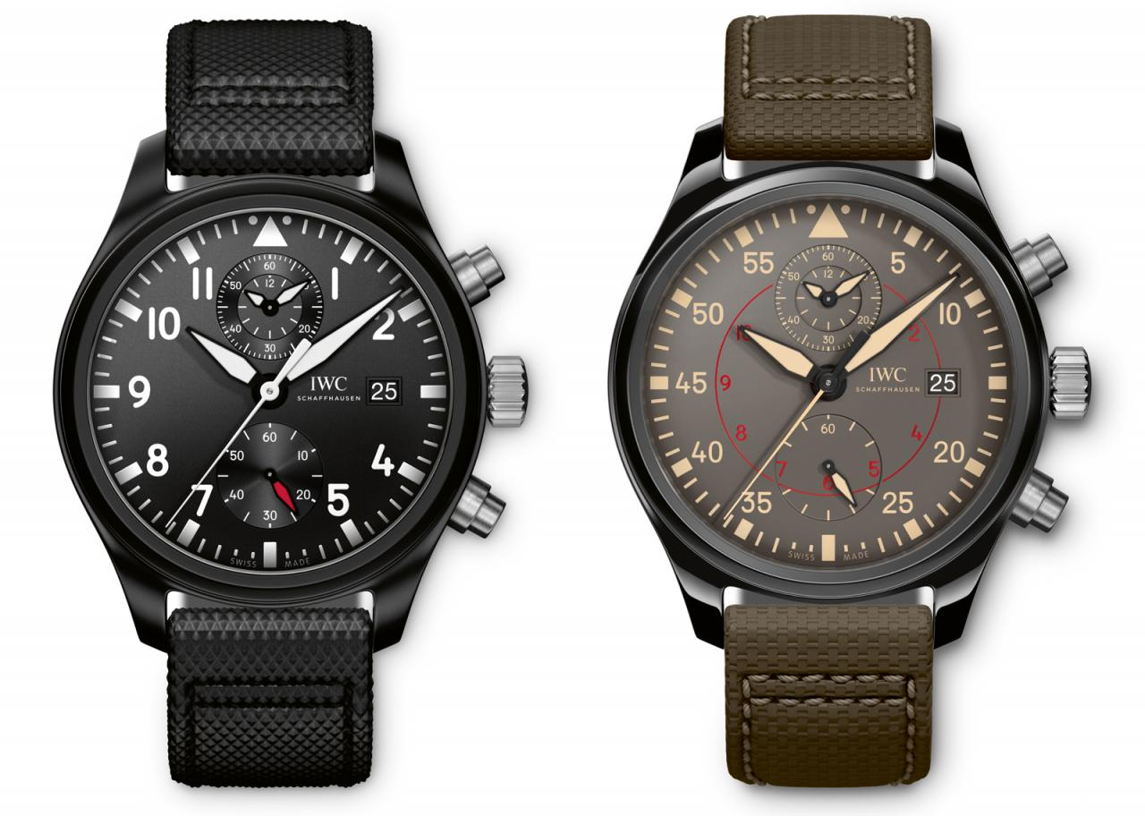 IWC 2016 Pilot Watch Chronograph Top Gun Faces